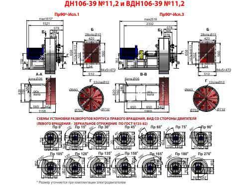 дымосос дн 11 2 1500, дымосос дн 11.2 технические характеристики