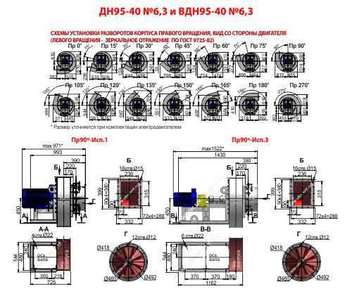 Дымосос ДН 6,3 дутьевой вентилятор дымоудаления Дымососы ДН