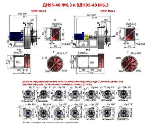 дымосос ДН 6 3, дымосос ДН 6 3 характеристики, дымосос ДН-6 3-1500 цена, купить