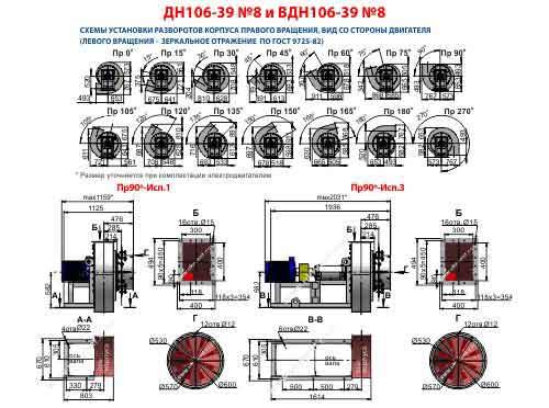 дымосос ДН 8 1500 НЖ, дымосос ДН 8 из нержавеющей стали технические характеристики