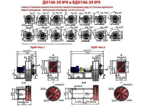дымосос ДН 9 1500 характеристики, цена, купить, Украина, Харьков, Вентиляторный завод Укрвентсистемы