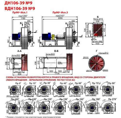 вдн 9 технические характеристики, вдн 9-1500 вентилятор вдн 9-1000