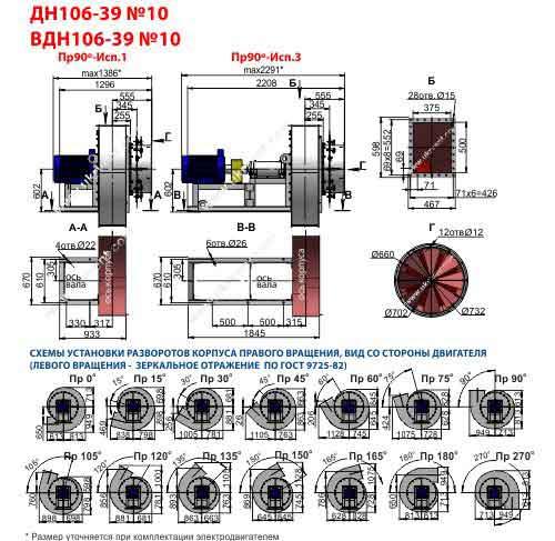 вентилятор вдн 10 1500 1000 технические характеристики, производительность, цена, купить