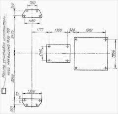 Дымосос ГД-31 план фундаментных болтов