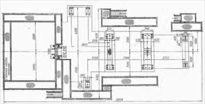 Дымосос ДОД-41 и ДОД-43 план фундаментных болтов