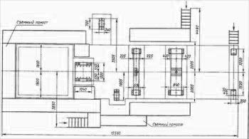 План фудаментных болтов ВДОД-31,5