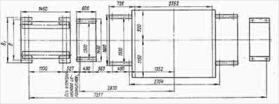 План фундамента дымососа ДРЦ-21Х2