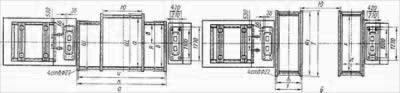 План фундамента дымососов Д-20x2 и Д-18x2