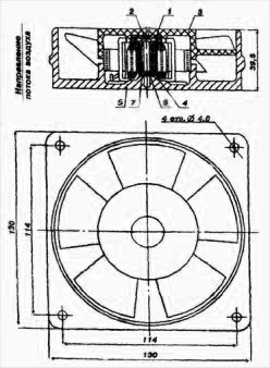 Конструкция вентилятора ВН-2