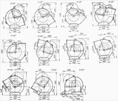 Вентилятор ГД-20-500у угол разворота