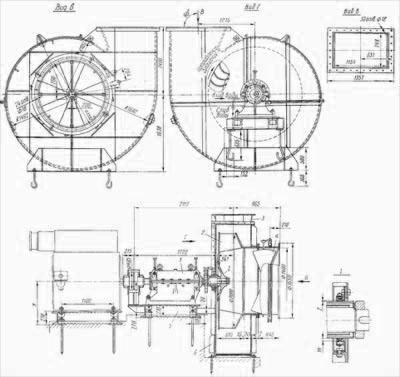 Вентилятор ГД-20-500у высокотемпературные вентиляторы для печей