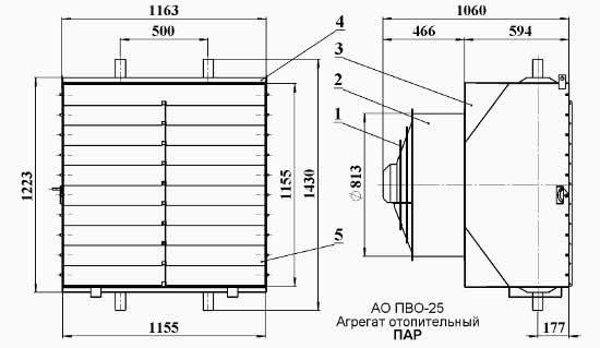 Агрегат отопительный паровой ао 2-25