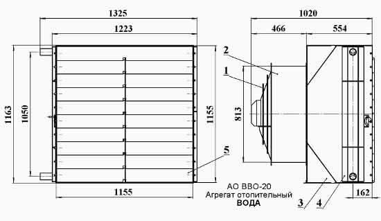 Агрегат отопительный ао 2-20