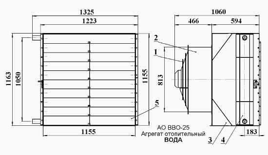 Агрегат отопительный ао 2-25