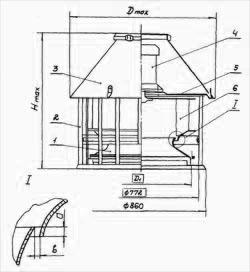 чертеж вентилятор крышный