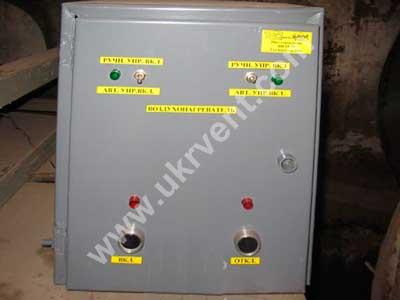 Щит управления отопительным агрегатом