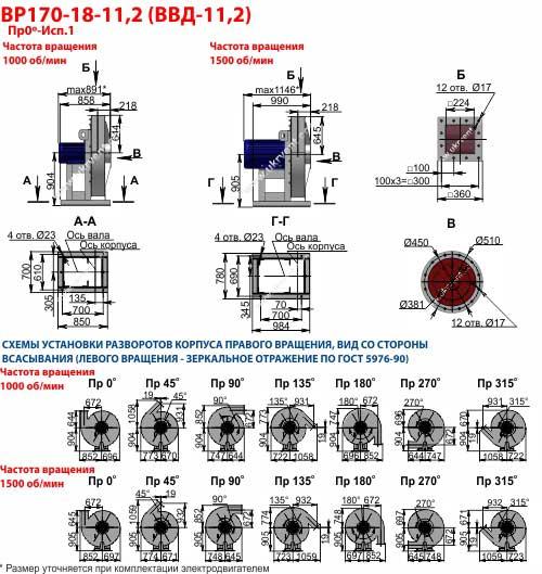 Вентиляторы высокого давления ВВД 11,2, Габаритные размеры ВВД 11,2, Вентилятор ВВД11,2, характеристики вентиляторов высокого давления ВВД11,2, Купить, Цена, Харьков, Украина вентиляторный завод Укрвентсистемы