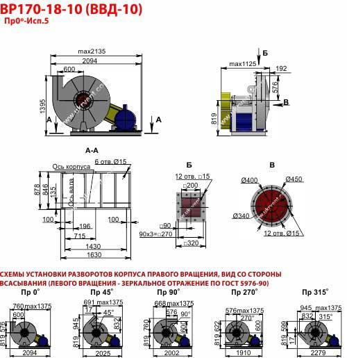 Вентиляторы высокого давления ВВД 10, Габаритные размеры ВВД 10, Вентилятор ВВД10, характеристики вентиляторов высокого давления ВВД10, Купить, Цена, Харьков, Украина вентиляторный завод Укрвентсистемы