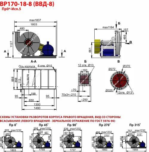 Вентиляторы высокого давления ВВД 8, Габаритные размеры ВВД 8, Вентилятор ВВД8, характеристики вентиляторов высокого давления ВВД8, Купить, Цена, Харьков, Украина вентиляторный завод Укрвентсистемы