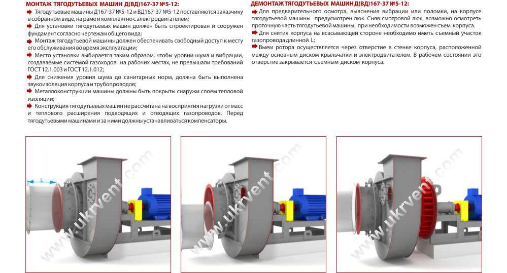 Вентиляторы дутьевые ВД монтаж и демонтаж Харьков
