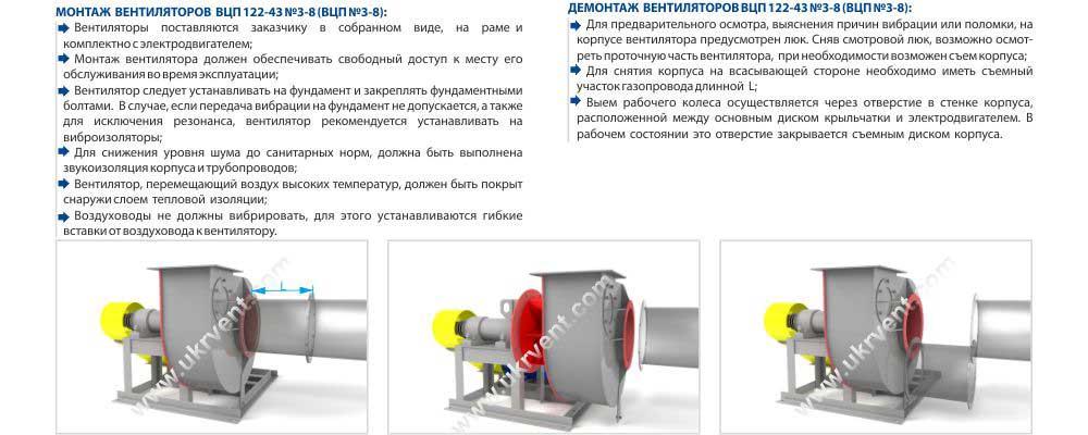 Купить пылевой вентилятор взрывозащищенный ВЦП монтаж и демонтаж